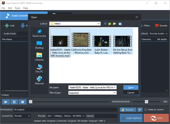 Add Video Files